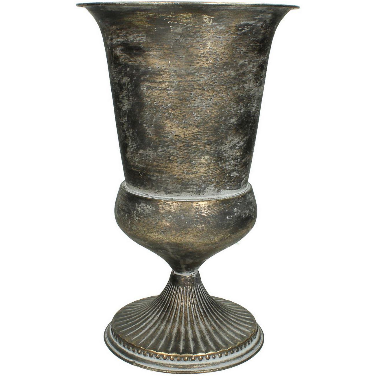 Brushed Bronze Trumpet Vase thumbnail