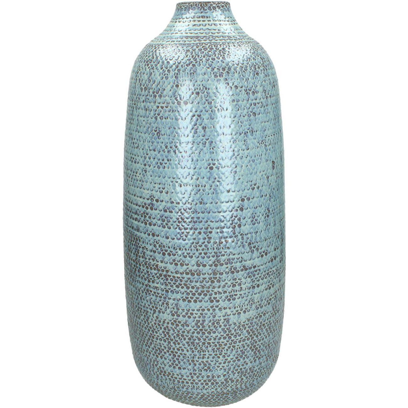 Handmade Ceramic Textured Vase in Blue thumbnail
