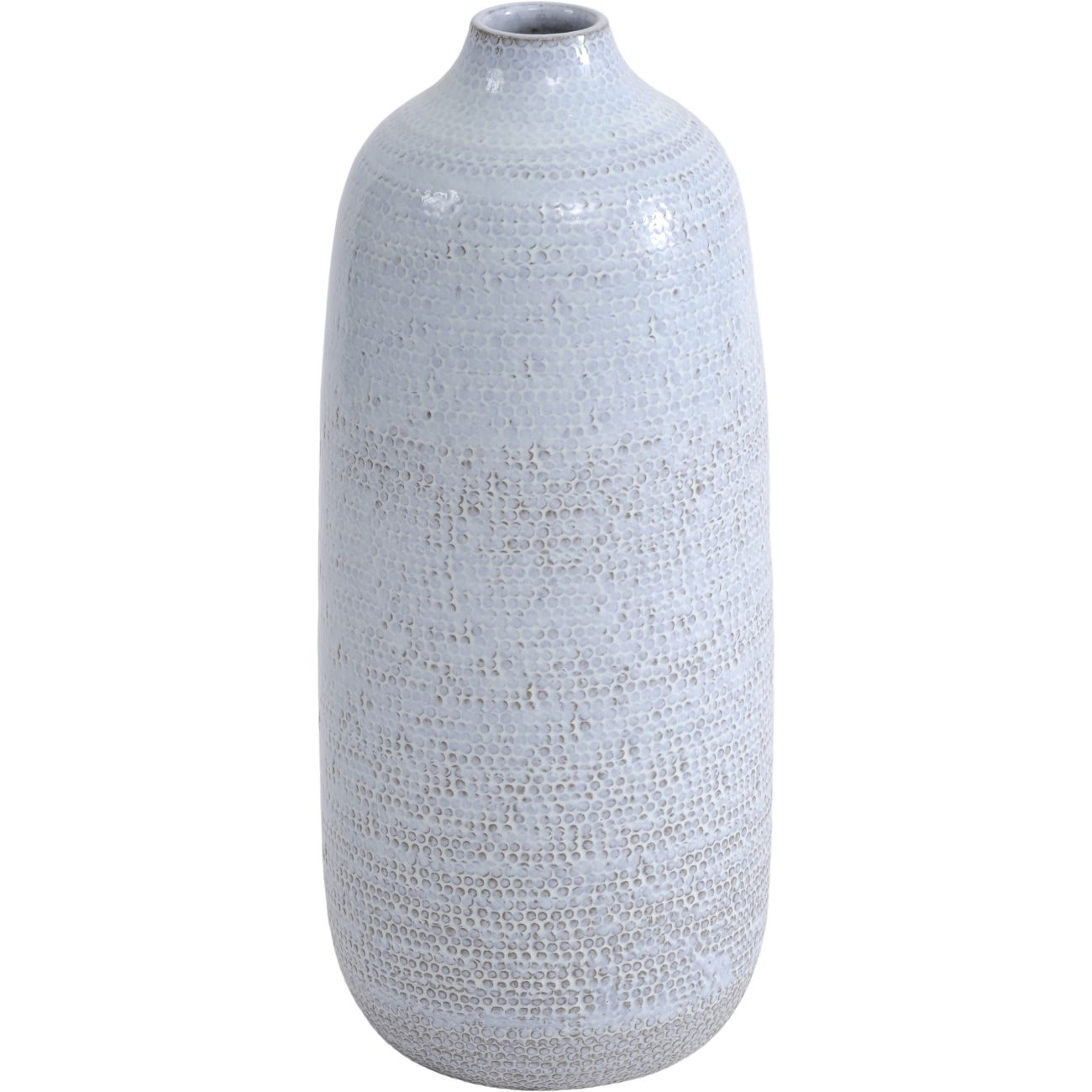 Handmade Ceramic Textured Vase in White thumbnail