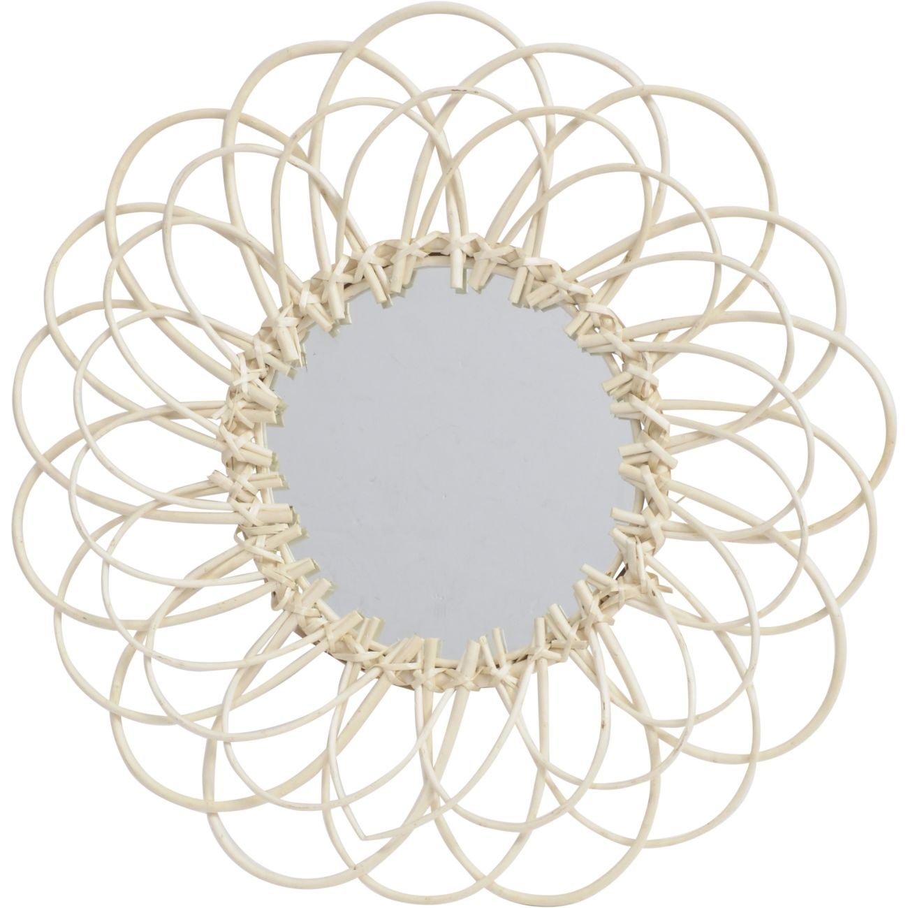 Looped Natural Willow Round Mirror thumbnail