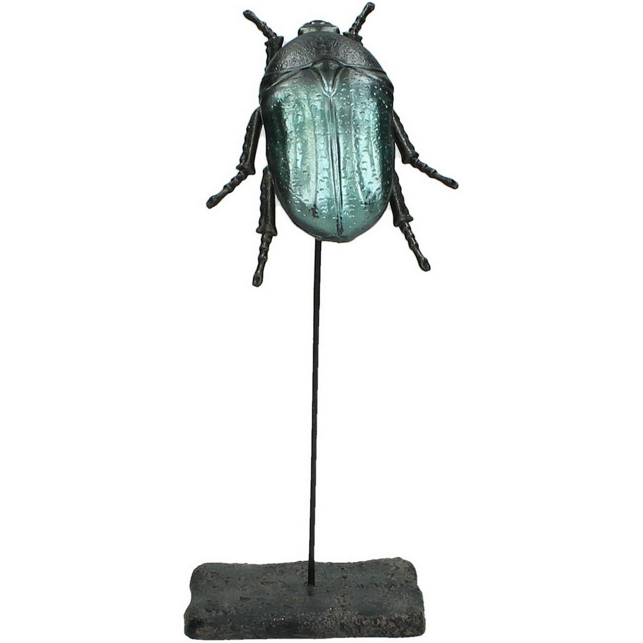 Blue And Black Beetle Sculpture Small thumbnail