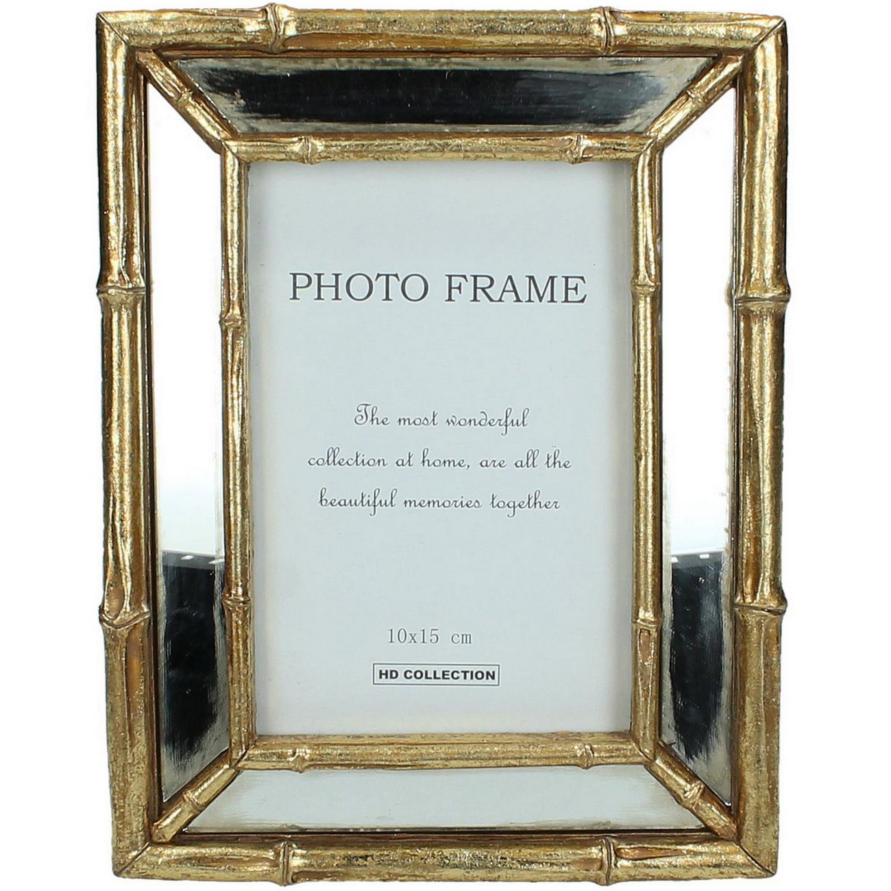 Bamboo Mirrored 4x6 Inch Resin Photo Frame thumbnail